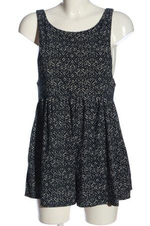 Mango casual Jumpsuit schwarz-weiß Allover-Druck Casual-Look
