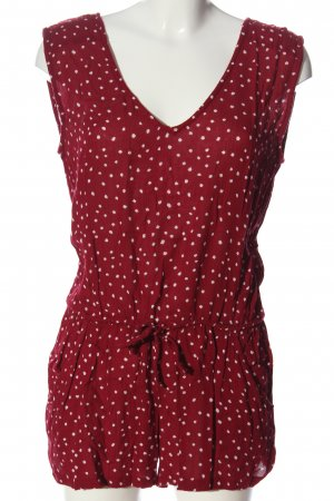 Mango casual Jumpsuit rot Allover-Druck Casual-Look