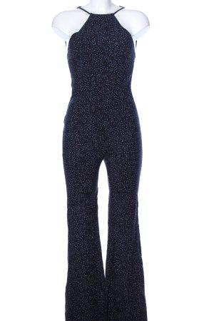 Mango casual Jumpsuit blau Allover-Druck Elegant