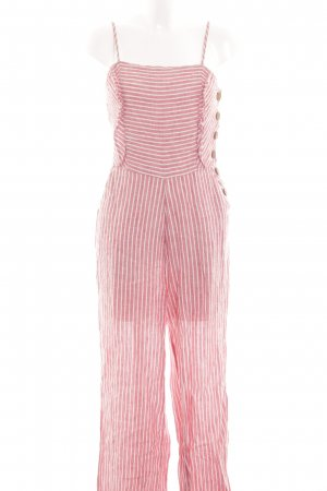 Mango casual Jumpsuit pink-weiß Streifenmuster Casual-Look