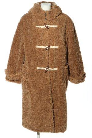 Mango casual Hooded Coat brown casual look