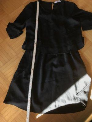 Mango casual Flounce Dress black polyester