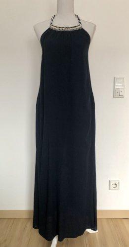 MANGO Casual Kleid Strandkleid Abendkleid schick dunkelblau blau