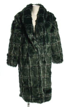 Mango casual Cappotto in eco pelliccia verde motivo a quadri stile casual