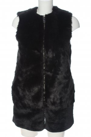 Mango casual Fake Fur Vest black elegant