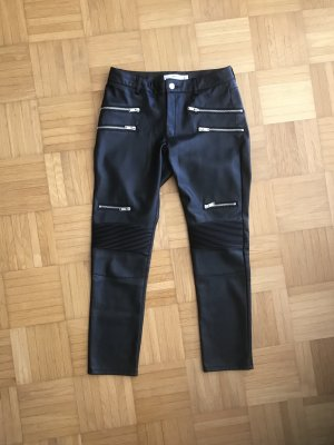 Mango casual Leather Trousers black polyester