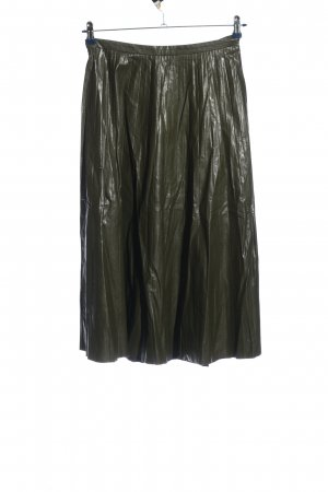 Mango casual Faux Leather Skirt khaki casual look