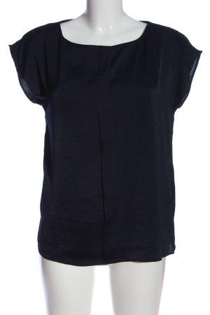 Mango casual Kurzarm-Bluse schwarz Casual-Look