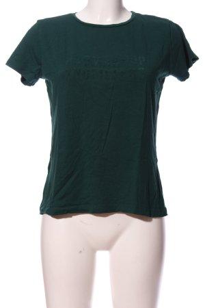 Mango casual Kurzarm-Bluse grün Schriftzug gedruckt Casual-Look