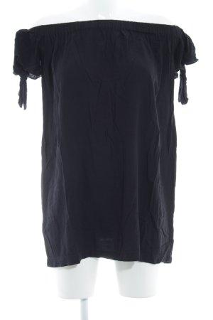 Mango casual Kurzarm-Bluse dunkelblau Casual-Look