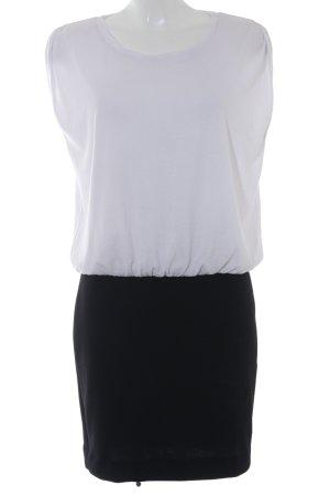 Mango casual Kurzarmkleid weiß-schwarz klassischer Stil
