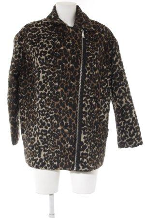 Mango casual Short Coat leopard pattern casual look