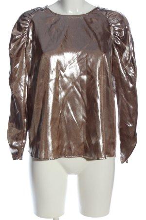 Mango casual Langarm-Bluse bronzefarben Elegant