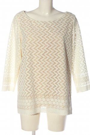 Mango casual Langarm-Bluse creme-nude Allover-Druck Casual-Look
