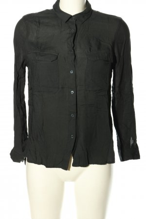 Mango casual Langarm-Bluse schwarz Business-Look