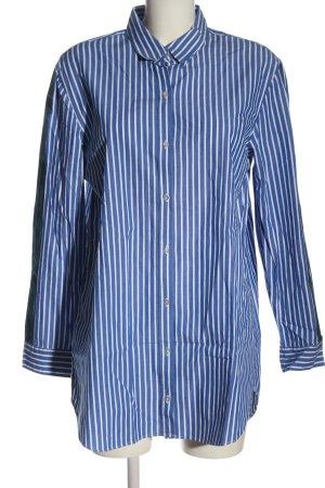 Mango casual Langarmhemd blau-weiß Streifenmuster Business-Look