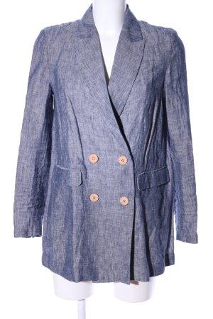 Mango casual Long-Blazer blau-hellgrau meliert Casual-Look