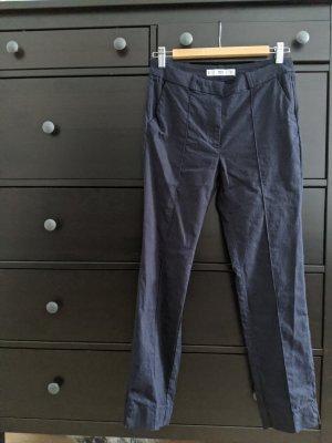 Mango casual Pantalon en lin bleu foncé lin