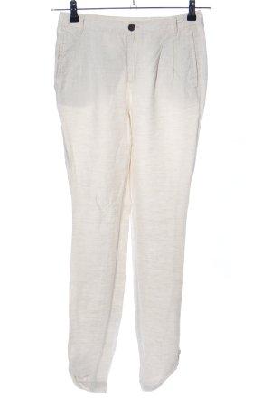 Mango casual Pantalón de lino blanco puro look casual