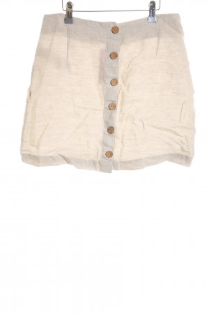 Mango casual Leinenrock creme-beige Casual-Look