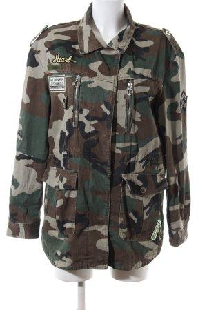 Mango casual Veste militaire brun-kaki motif de camouflage style décontracté