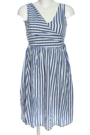 Mango casual Minikleid blau-weiß Allover-Druck Casual-Look