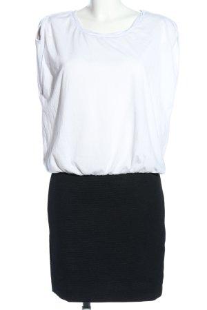 Mango casual Minikleid weiß-schwarz Casual-Look