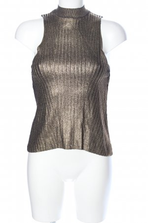Mango casual Halter Top gold-colored extravagant style