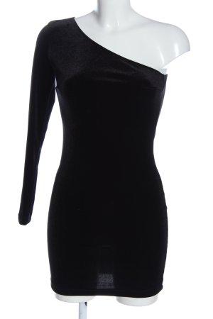 Mango casual Vestido de un hombro negro elegante