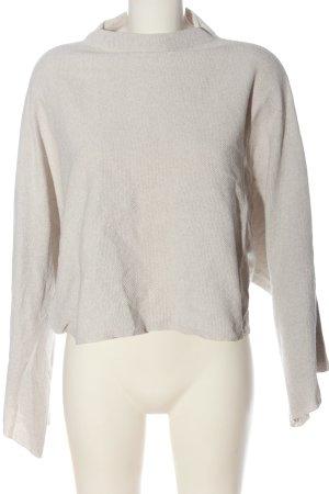 Mango casual Sweter oversize biały Melanżowy W stylu casual