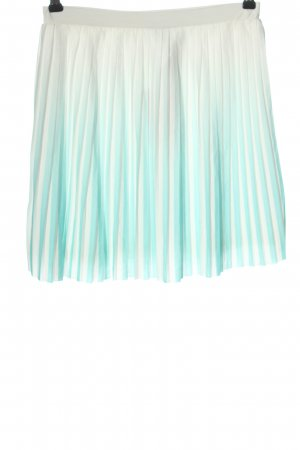 Mango casual Pleated Skirt turquoise-white color gradient casual look