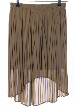 Mango casual Pleated Skirt khaki casual look