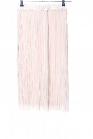 Mango casual Pleated Skirt nude striped pattern casual look