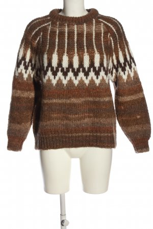 Mango casual Rundhalspullover grafisches Muster Casual-Look
