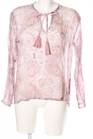 Mango casual Schlupf-Bluse pink abstraktes Muster Casual-Look