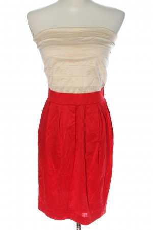 Mango casual Off-The-Shoulder Dress red-natural white casual look