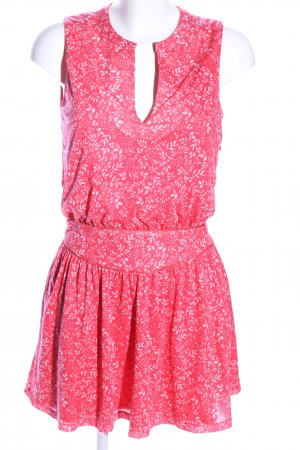 Mango casual Shirtkleid pink-weiß Allover-Druck Casual-Look