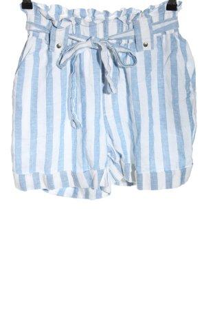 Mango casual Shorts blau-weiß Allover-Druck Casual-Look