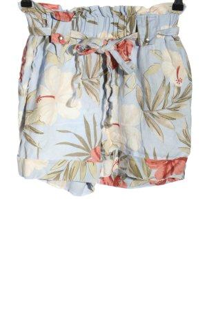 Mango casual Shorts blau-wollweiß Allover-Druck Casual-Look