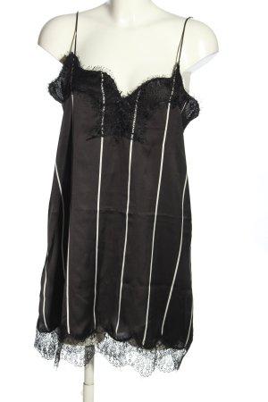 Mango casual Spitzenkleid schwarz-weiß Streifenmuster Casual-Look