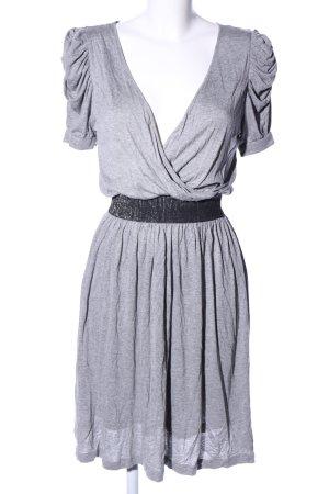 Mango Casual Sportswear A-Linien Kleid hellgrau meliert Casual-Look
