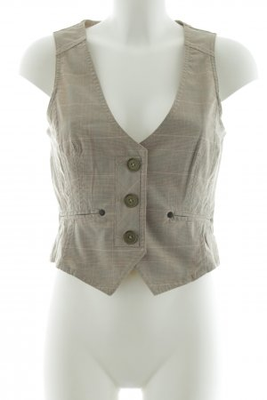 Mango Casual Sportswear Anzugweste hellgrau-rot Karomuster Business-Look