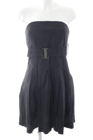 Mango Casual Sportswear Bandeaukleid schwarz Street-Fashion-Look