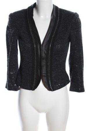 Mango Casual Sportswear Blouson schwarz-silberfarben meliert Glanz-Optik
