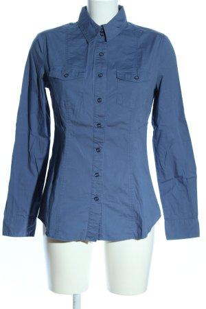 Mango Casual Sportswear Langarmhemd blau Business-Look