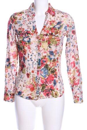 Mango Casual Sportswear Langarmhemd Allover-Druck Business-Look