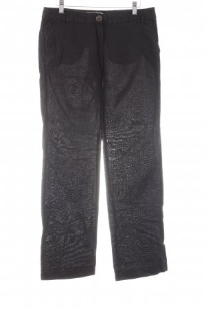 Mango Casual Sportswear Leinenhose schwarz Casual-Look