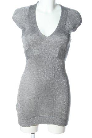 Mango Casual Sportswear Minikleid silberfarben meliert Elegant