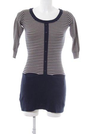 Mango Casual Sportswear Minikleid dunkelblau-hellbeige Casual-Look
