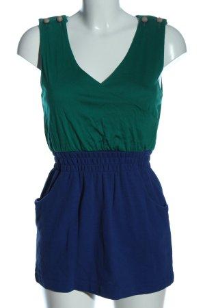 Mango Casual Sportswear Minikleid blau-grün Casual-Look